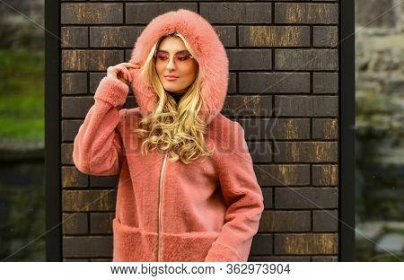 Fashion As Unique As You Are. Pink Sheepskin Coat. Fancy Chic Coat. Natural Wool Sheepskin Coat. Fur
