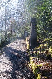Catholic Walking Path Near Duingt, Savoy