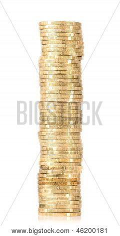 Golden Coins In Stack