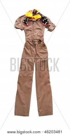 Brown Overall Fashion Composition