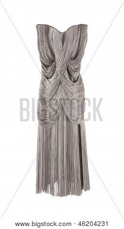Gorgeous Elegant Grey Fringed Dress