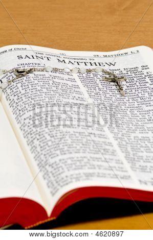 Rosary Bible Page - Saint Matthew