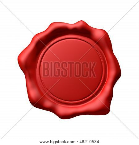 Red Wax Seal 3 - Isolated