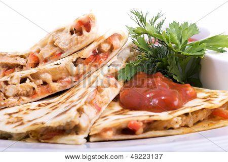 Quesadillas With Cajun Chicken