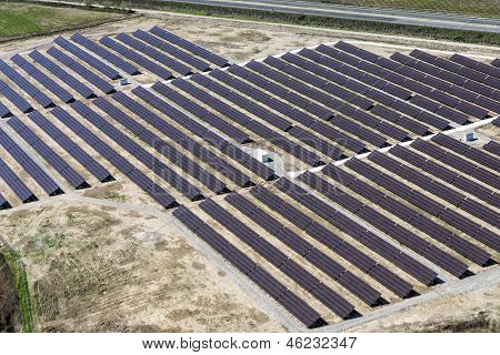 Photovoltaic Panels Aerial View