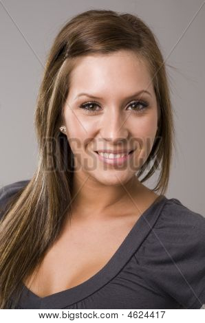 Head Shot Of Beautiful Young Woman