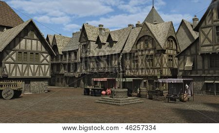Medieval Town Square