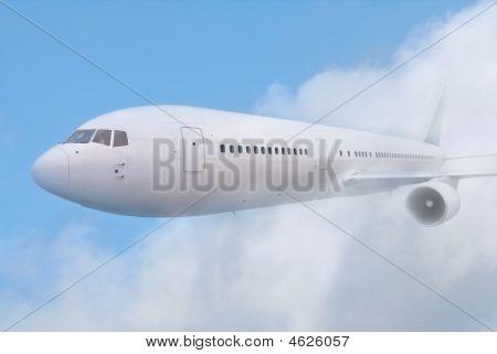 White Passenger Plane