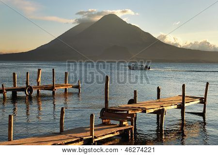 Pier on the Atitlan Lake