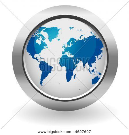 Glossy World Button