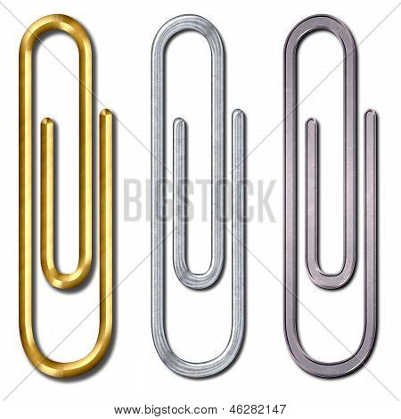 Metal Paper Clip Isolated