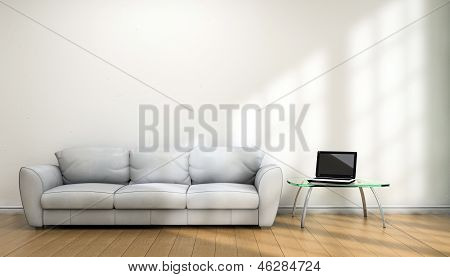 Notebook And Sofa