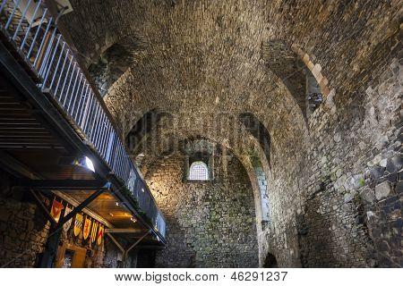 interior of Dundonald Castle, Ayrshire, Scotland