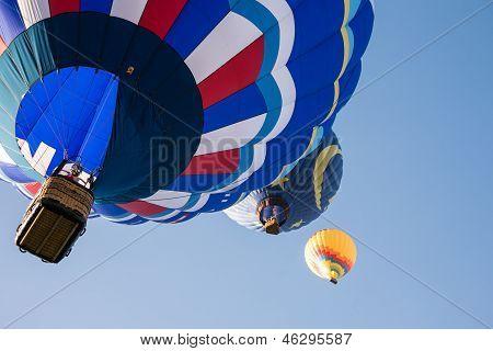 Abstract Hot Air Balloons