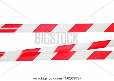 Lines of barrier tape. All on white background.