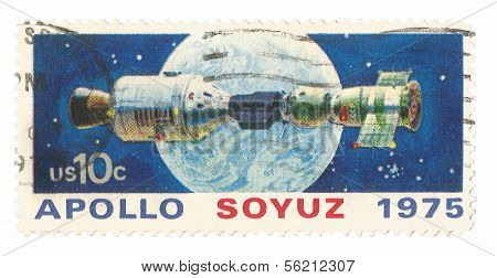 United State Stamp Apollo Soyuz Hook Up