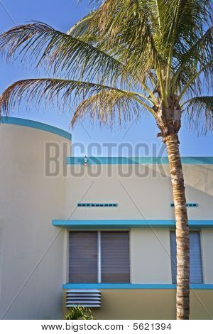 Art-Deco Building and Palm Tree