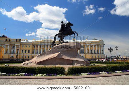Peter 1 monument in Saint-petersburg, Russia