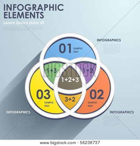 flat design vector abstract intersection chart infographic elements poster