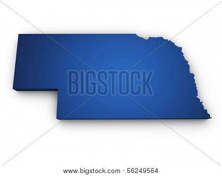 Map Of Nebraska 3D Shape