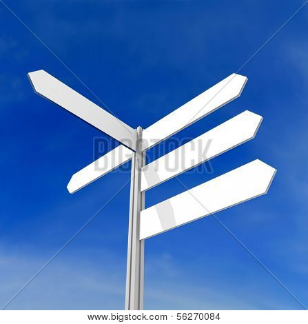 Signpost. 3d illustration