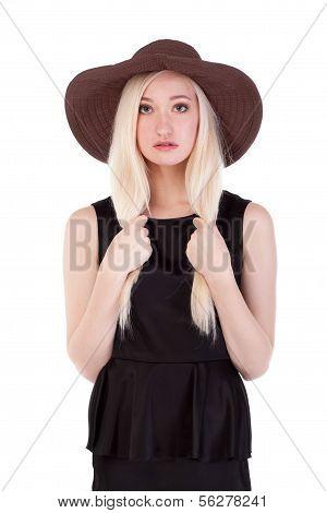 Portrait Of Cute Blonde Woman