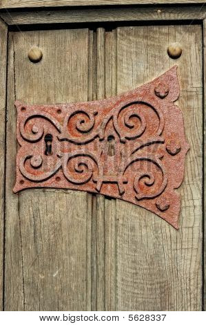 Rusty Ornate Metal Keyhole