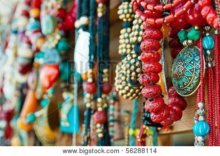 Jewelry at market in Mtsheta, the tourist capital of Georgia poster