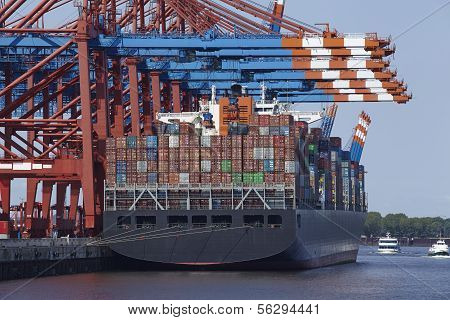 Container Gantry Crane And Containership