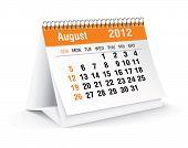 august 2012 desk calendar poster