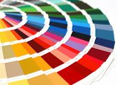 open RAL sample colors catalogue poster
