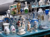 Decorative Knick Knack at a flea market stand poster
