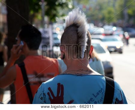 Guy with mohawk