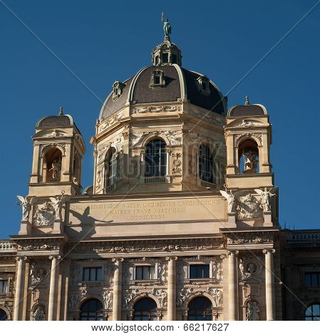 VIENNA, AUSTRIA - OCTOBER 22, 2010:  Museum of Natural History on a sunny day