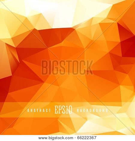 Orange triangle colorful abstract design background template