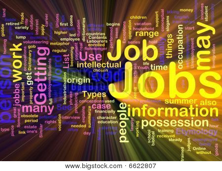 Jobs Employment Background Concept Glowing
