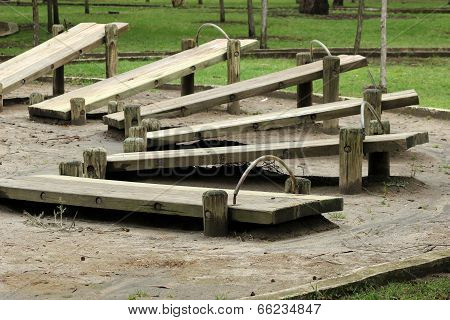 Wood Exercise Benches