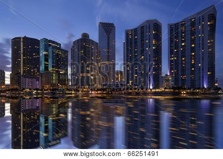 Miami Skyline at Twilight