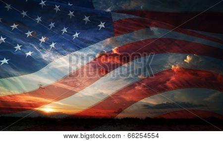 Independence Day. Flag Usa