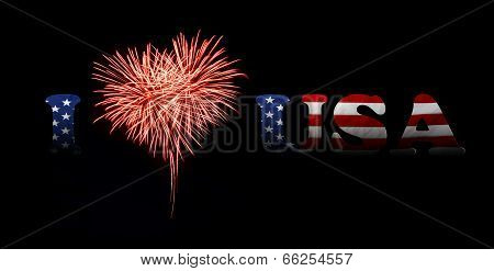 Independence Day. I Love Usa