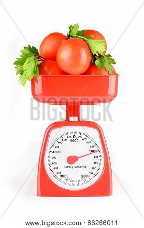 Vegetables And Scales