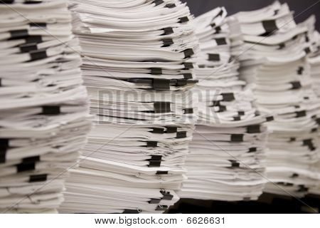 Stacks of Tax and Legal Papers