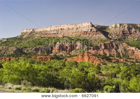 Fortress Cliffs in Palo Duro Canyon State Park in Texas. poster