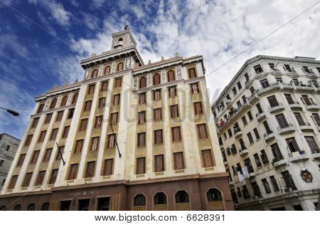A view of famous art deco building in Havana city built by Emilio Bacardi in 1930. Taken in November 2009 poster