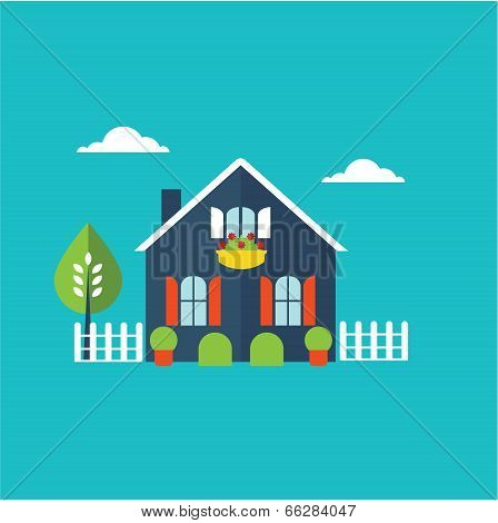 house home illustration