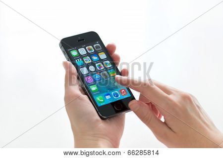 Apple Iphone 5S In Hands