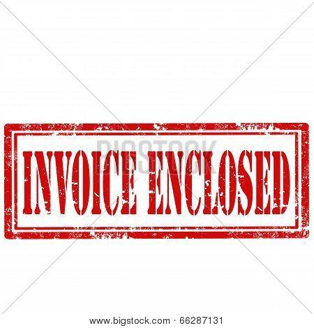 Invoice Enclosed-stamp