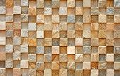A Picture of brown abstract checkered wall for backgrounds poster