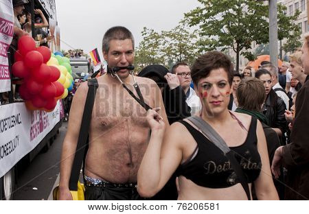 Elaborately Dressed Couple, During Christopher Street Day Parade