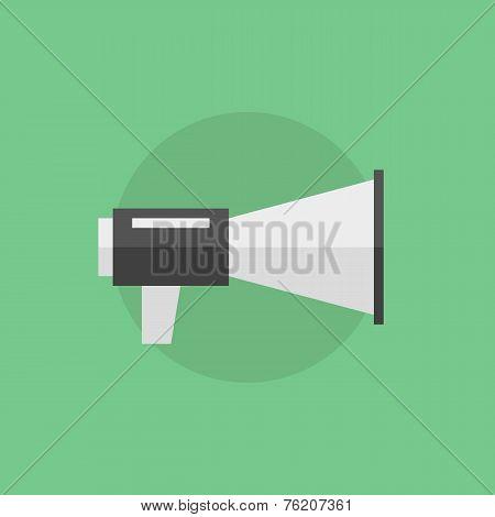 Loudspeaker Flat Icon Illustration